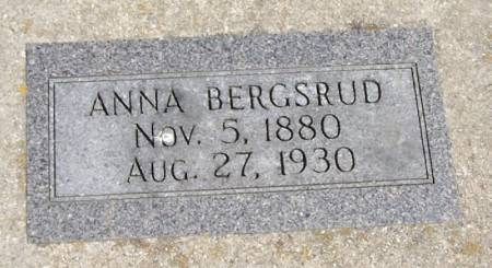 BERGSRUD, ANNA - Winneshiek County, Iowa   ANNA BERGSRUD