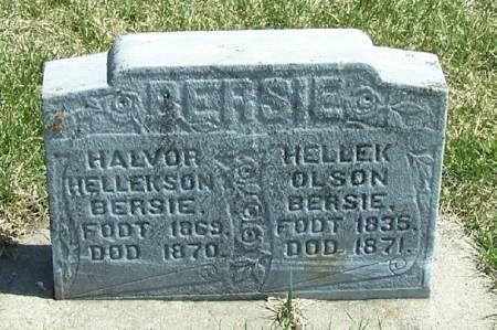 BERSIE, HALVOR HELLEKSON - Winneshiek County, Iowa | HALVOR HELLEKSON BERSIE