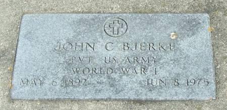 BJERKE, JOHN C - Winneshiek County, Iowa | JOHN C BJERKE