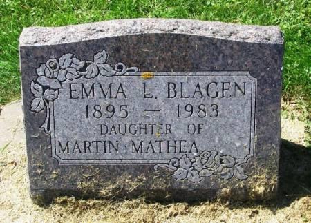 BLAGEN, EMMA L. - Winneshiek County, Iowa   EMMA L. BLAGEN