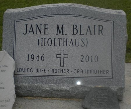 HOLTHAUS BLAIR, JANE M. - Winneshiek County, Iowa | JANE M. HOLTHAUS BLAIR