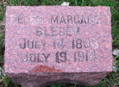 BLEGEN, ELLEN MARGARET - Winneshiek County, Iowa   ELLEN MARGARET BLEGEN