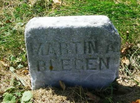 BLEGEN, MARTIN A. - Winneshiek County, Iowa | MARTIN A. BLEGEN