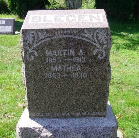 BLEGEN, MATHEA - Winneshiek County, Iowa | MATHEA BLEGEN