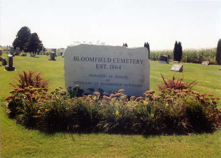 BLOOMFIELD, CEMETERY - Winneshiek County, Iowa   CEMETERY BLOOMFIELD