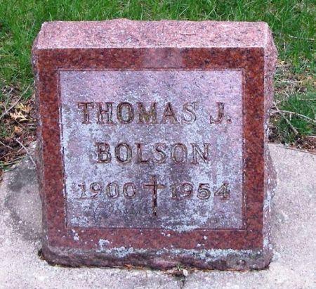 BOLSON, THOMAS J. - Winneshiek County, Iowa   THOMAS J. BOLSON