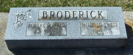 BRODERICK, MILDRED TWEET - Winneshiek County, Iowa | MILDRED TWEET BRODERICK