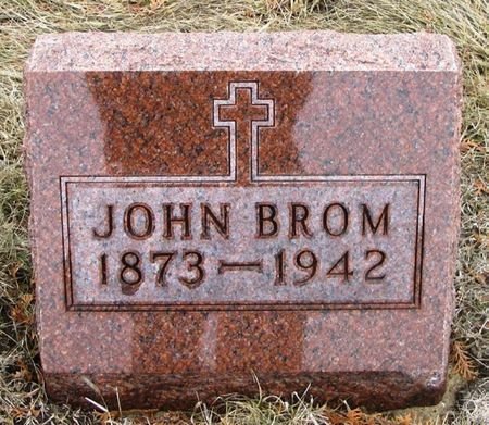 BROM, JOHN - Winneshiek County, Iowa   JOHN BROM
