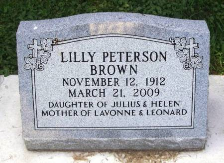 PETERSON BROWN, LILLY - Winneshiek County, Iowa | LILLY PETERSON BROWN