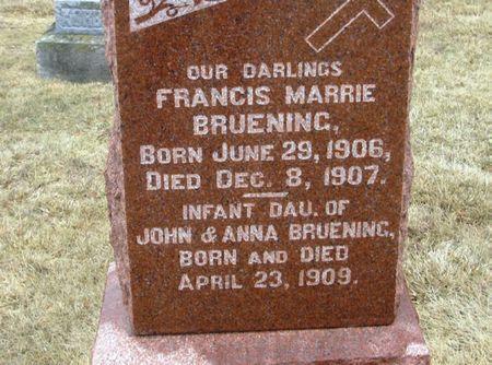 BRUENING, FRANCIS MARRIE - Winneshiek County, Iowa | FRANCIS MARRIE BRUENING