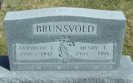BRUNSVOLD, GERTRUDE E - Winneshiek County, Iowa | GERTRUDE E BRUNSVOLD