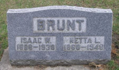 BRUNT, ISAAC W. - Winneshiek County, Iowa | ISAAC W. BRUNT