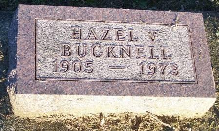 BUCKNELL, HAZEL V - Winneshiek County, Iowa | HAZEL V BUCKNELL