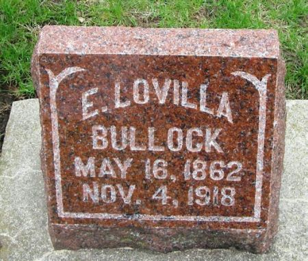 BULLOCK, E. LOVILLA - Winneshiek County, Iowa | E. LOVILLA BULLOCK