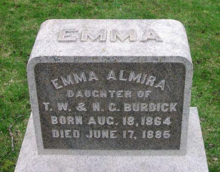 BURDICK, EMMA ALMIRA - Winneshiek County, Iowa | EMMA ALMIRA BURDICK
