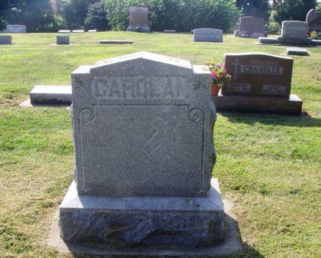 CAROLAN, JOHN J. FAMILY STONE - Winneshiek County, Iowa   JOHN J. FAMILY STONE CAROLAN
