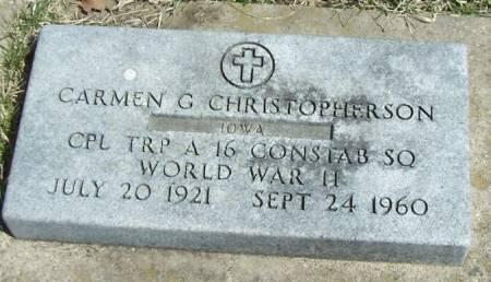 CHRISTOPHERSON, CARMEN G - Winneshiek County, Iowa   CARMEN G CHRISTOPHERSON