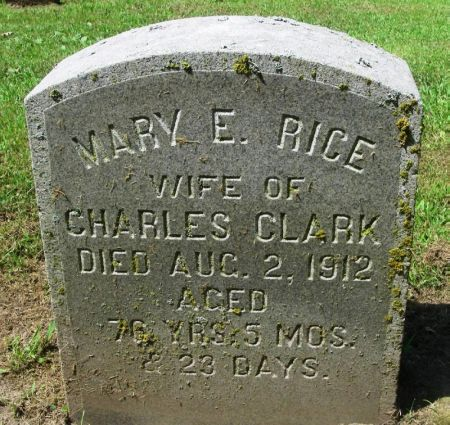 RICE CLARK, MARY E. - Winneshiek County, Iowa | MARY E. RICE CLARK