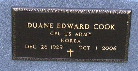 COOK, DUANE EDWARD - Winneshiek County, Iowa | DUANE EDWARD COOK