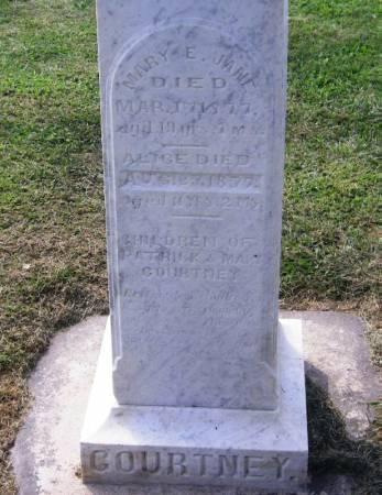 COURTNEY, MARY E. JANE - Winneshiek County, Iowa   MARY E. JANE COURTNEY
