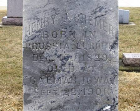 CREMER, HENRY J. - Winneshiek County, Iowa | HENRY J. CREMER