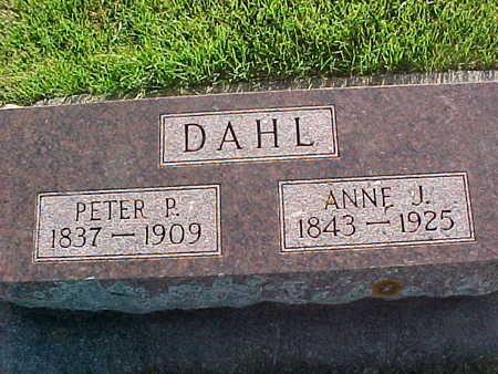 DAHL, ANNE JONETTE MIKKELSDAUGHTER - Winneshiek County, Iowa | ANNE JONETTE MIKKELSDAUGHTER DAHL