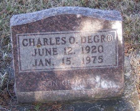 DEGRO, CHARLES O - Winneshiek County, Iowa | CHARLES O DEGRO