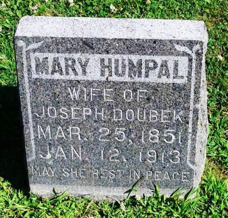 HUMPAL DOUBEK, MARY - Winneshiek County, Iowa | MARY HUMPAL DOUBEK