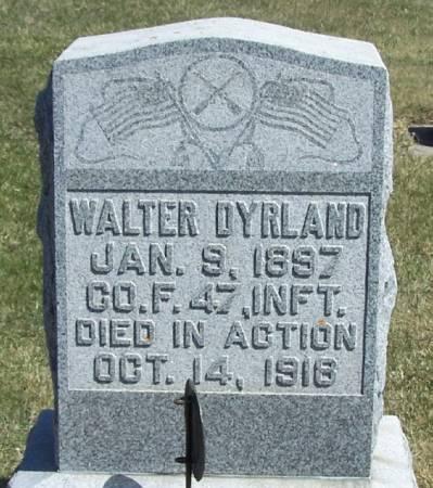 DYRLAND, WALTER - Winneshiek County, Iowa   WALTER DYRLAND