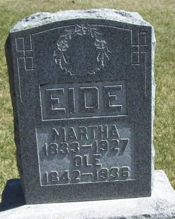EIDE, OLE - Winneshiek County, Iowa   OLE EIDE