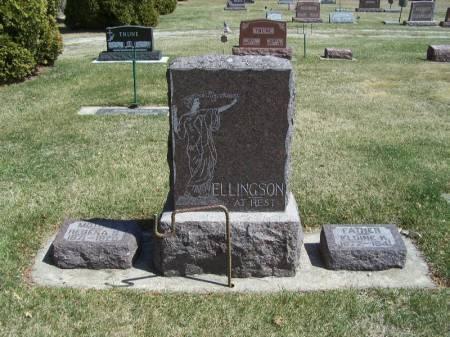 ELLINGSON, ELDINE FAMILY STONE - Winneshiek County, Iowa   ELDINE FAMILY STONE ELLINGSON