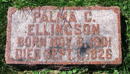 ELLINGSON, PALMA C. - Winneshiek County, Iowa   PALMA C. ELLINGSON