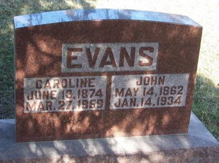 EVANS, JOHN - Winneshiek County, Iowa | JOHN EVANS