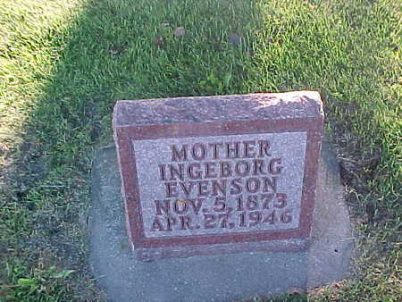 EVENSON, INGEBORG - Winneshiek County, Iowa | INGEBORG EVENSON
