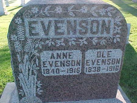 EVENSON, ANNE - Winneshiek County, Iowa | ANNE EVENSON