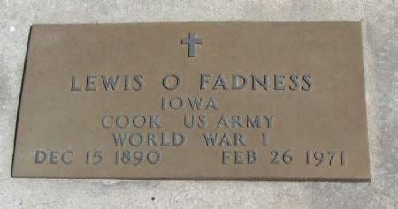 FADNESS, LEWIS OSCAR HENDRICKSON - Winneshiek County, Iowa | LEWIS OSCAR HENDRICKSON FADNESS