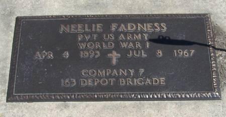 FADNESS, NEELIE EDWIN HENDRICKSON - Winneshiek County, Iowa | NEELIE EDWIN HENDRICKSON FADNESS
