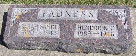 FADNESS, SARAH SANDE - Winneshiek County, Iowa | SARAH SANDE FADNESS