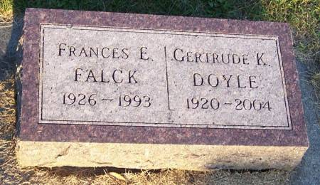 FALCK, FRANCES E - Winneshiek County, Iowa | FRANCES E FALCK