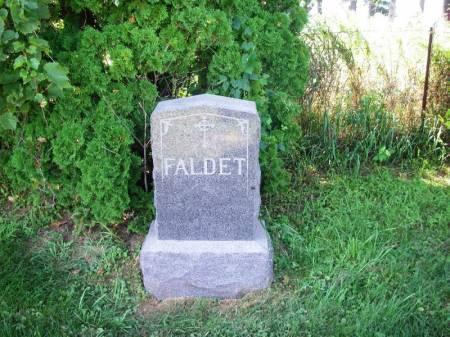 FALDET, INGEBRIGT FAMILY STONE - Winneshiek County, Iowa | INGEBRIGT FAMILY STONE FALDET