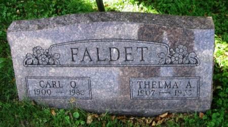 FALDET, THELMA A. - Winneshiek County, Iowa | THELMA A. FALDET