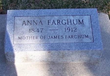 FARGHUM, ANNA - Winneshiek County, Iowa   ANNA FARGHUM