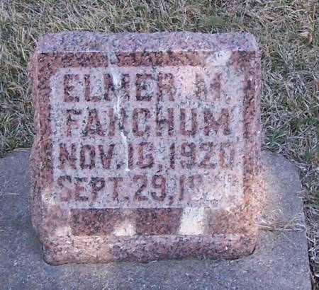 FARGHUM, ELMER M - Winneshiek County, Iowa | ELMER M FARGHUM