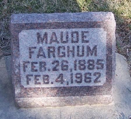 FARGHUM, MAUDE - Winneshiek County, Iowa   MAUDE FARGHUM
