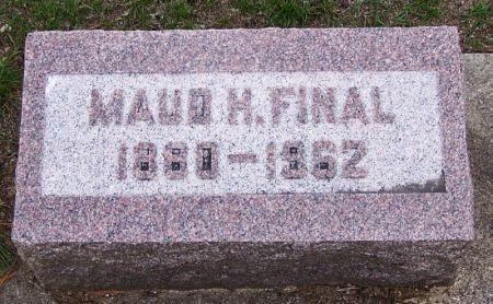 FINAL, MAUDE H. - Winneshiek County, Iowa   MAUDE H. FINAL