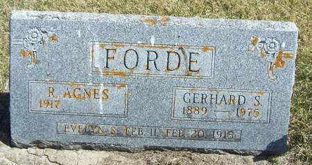 FORDE, EVELYN S - Winneshiek County, Iowa | EVELYN S FORDE