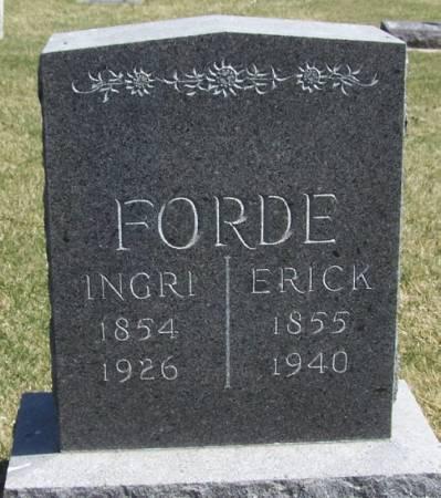 FORDE, ERICK - Winneshiek County, Iowa | ERICK FORDE