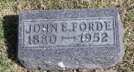 FORDE, JOHN E - Winneshiek County, Iowa   JOHN E FORDE