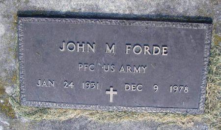 FORDE, JOHN M. - Winneshiek County, Iowa | JOHN M. FORDE