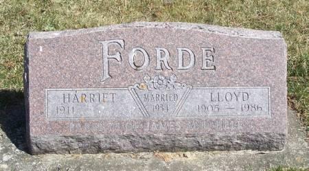FORDE, LLOYD - Winneshiek County, Iowa   LLOYD FORDE